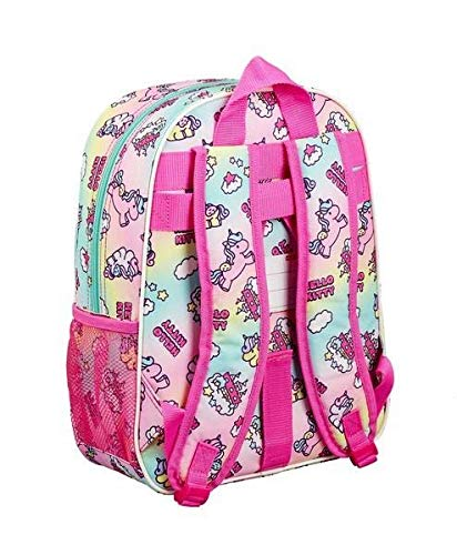 Hello Kitty 611916185, Candy Unicorns Mochila infantil adaptable a carro, Multicolor, 26 x11 x 34cm