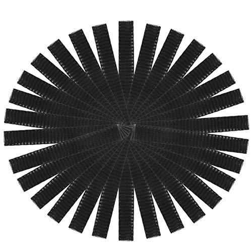 Frcolor Protector de la manga del acoplamiento del cepillo del maquillaje de la cubierta del acoplamiento 50pcs (negro)