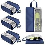 Haundry Lot de 4 sacs de rangement pour chaussures pour homme et femme avec fenêtre transparente
