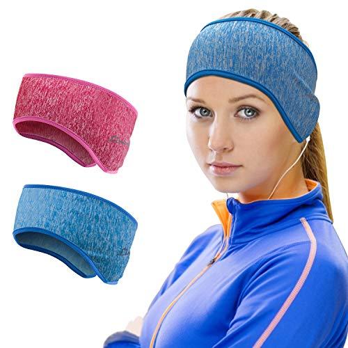 Sport Stirnband für Damen - Winter Ohrenwärmer Stirnbänder Ohrenschützer Warm Headband for Jogging, Laufen, Wandern, Fahrrad und Motorrad Fahren 2 Stück Farbe 4