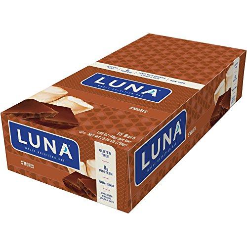 LUNA BAR - Gluten Free Bar - S'mores Flavor - (1.69 Ounce Snack Bar, 15 Count)