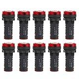 Zumbador indicador, 10 piezas LED Zumbador AD16-22SM Rojo Flash Indicador de alarma Lámpara Zumbador AC/DC24V para señales de advertencia, señales de accidentes