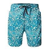 Desconocido Hombres Bañador Shorts de Playa Bohemio étnico Inspirado Mariposa voladora como Insectos y Flores Diente de león Imagen XL