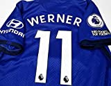 ADI Timo Werner#11 Jersey Fussball-Trikot Full Premier Patch 2020-2021 Light Blue Color (S)