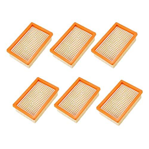 Suading Paquete de 6 filtros para aspiradora Karcher MV4 MV5 MV6 WD4 WD5 WD6, piezas de repuesto para filtro de hígado