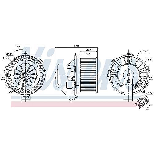Nissens Elektromotor Gebläsemotor für Innenraumgebläse 87105