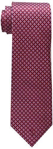 Tommy Hilfiger Men's Core Micro Tie, Red, One Size