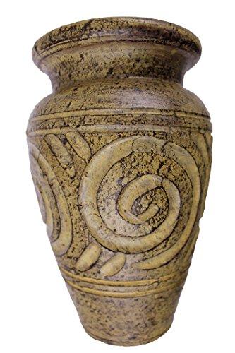 Rotfuchs Terracotta Tonvase Blumenvase aus Ton 20 cm hoch Handarbeit Dekoration 20 cm Beige
