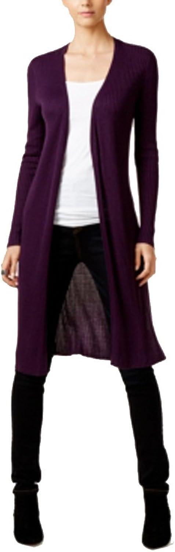 Inc Womens Purple Long Sleeve Open Cardigan Sweater US Size  M