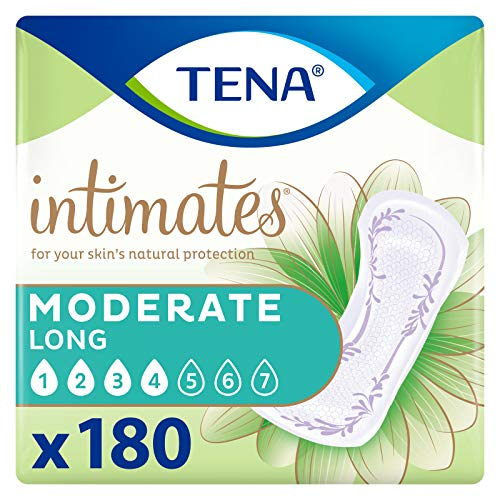 Tena Intimates Moderate Absorbency Incontinence/Bladder Control Pad, Long Length, 180 Count