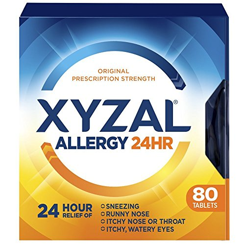 Xyzal Allergy Pills, 24-Hour Allergy Relief, Original Prescription Strength, 80-Count