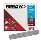 Arrow 508IP Genuine T50 1/2-Inch Staples, 5,000-Pack,Grey,ARRT5012IP