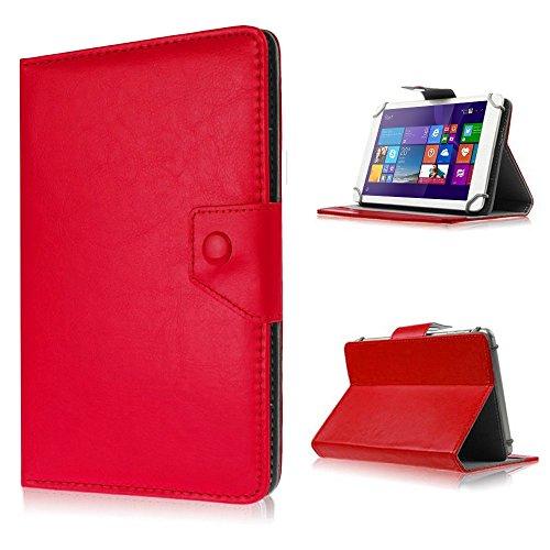 UC-Express Tasche f Huawei Mediapad X2 Hülle Case Schutz Tablet Cover Schutzhülle Etui Bag, Farben:Rot