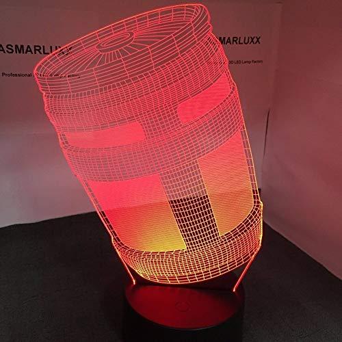 Nndxh Assault Jug 3D Led Light Usb Night Light Decoration Of 7 Shapes In Various Shapes Change Light Display Gift, Novel Gift