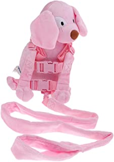 Baosity Safety Harness Leash Strap Baby Kids Toddler Walking Cosplay Backpack Reins Bag - Pink Dog, as described