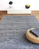 Alfombra Moderna Colors Gris argentado 160x230cm - Alfombra Shaggy al Precio súper económico