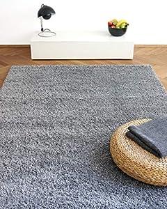 floor factory Alfombra Moderna Colors Gris argentado 160x230cm - Alfombra Shaggy al Precio súper económico