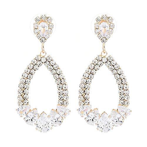 Arete Pendientes para Mujer Pendientes Colgantes Geométricos Dorados Pendientes De Mujer Joyas Colgante Simple Regalo De Joyería para Mujer Sh379