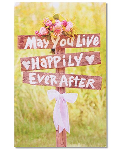 American Greetings May You Live Happily Ever After Wedding Greeting Card with Glitter