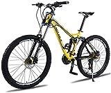 Wyyggnb Vélo De Montagne, Vélo Pliant Vélo De Montagne Unisexe, Cadre en Alliage D'aluminium De 26 Pouces, Vélo De Montagne À Double Suspension 24/27 Vitesses avec Double Frein À Disque
