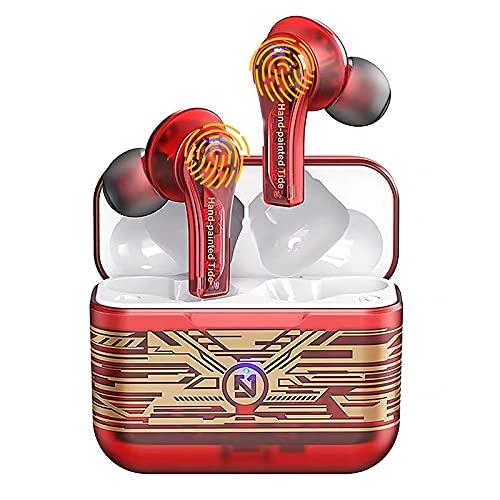 ZZYJYALG Auriculares inalámbricos Bluetooth 5.0, TWS TRUE LOS AURICULARES DE AURICURADORES BLUETOOTH INALÁNTICO TWS, Auriculares Bluetooth con micrófono, auriculares de Bluetooth en el oído auriculare