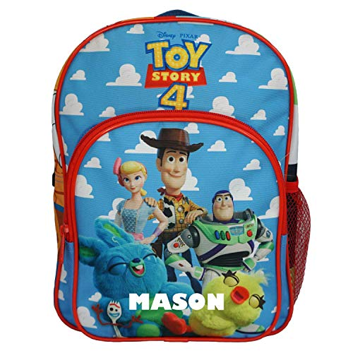 Toy Story Buddy Officially Licensed Backpack- Plain/Personalised School Present Quality Product Stitching Padded Shoulder Straps Tension Resistant 100% Polyester (Personalised)