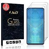 J&D Compatible para 3-Pack Honor View 20 Protector de Pantalla, [Vidrio Templado] [NO Cobertura Completa] Cristal Templado Protector de Pantalla para Huawei Honor View 20 - [No para Honor View 10]