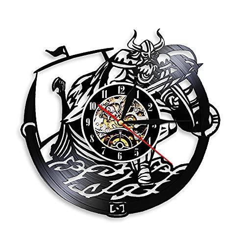 Tbqevc Disco de Vinilo Reloj de Pared Arma lámpara de Pared decoración Reloj de Pared Mejor Regalo para la Familia 12 Pulgadas