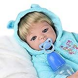 ZCPDP 21' Realista muñeca renacida Boy Childs Renacida muñeca de Las niñas de Navidad del cumpleaños de Regalo Hecho