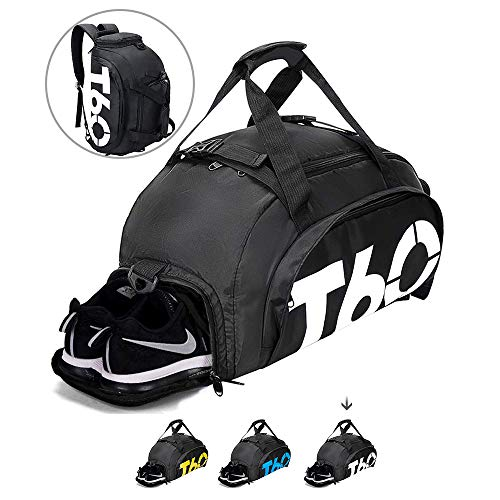 Gym Bag Travel Duffle Bag Backpack with Shoes Compartment for Men and Women, Wet Dry Seperation Sports Gym Backpack
