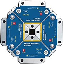 Magneti per Saldatura,VVEMERK 4 Pezzi Saldatur Posizionatore Magnetico per Supporto angolare 45 °,90 °,135 °,13KG Accessor...