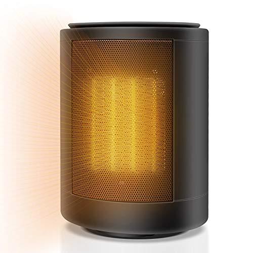 ZJZ 1500W Calentador Eléctrico Portátil Personal, Mini Calefactor Cerámico, Oscilación Automática 2 Modos de contra Viento, Handy Heater para Cuarto/Baño/Oficina