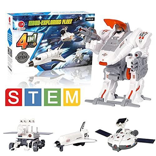 CIRO SPACE TOYS4-IN-1BUILDING TOYS 학습 과학 키트 태양 광 발전 로봇 키트 SPACE EXPLORER FLEET STEM TOYS FOR KIDS AGE8-12