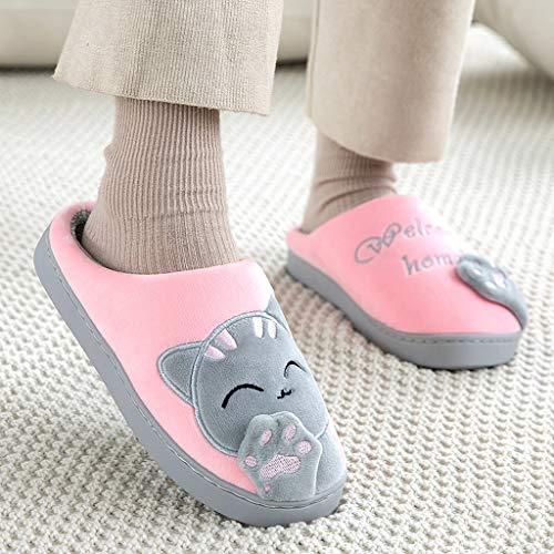 WYJBD Zapatillas De Mujer con Bordado En 3D, Zapatos De Felpa Cálidos...