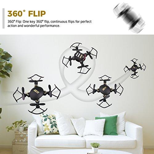 Gvoo Mini Quadcopter, Foldable Altitude Hold Mini Drone