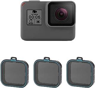 TELESIN Gopro hero7black/hero6/hero5用レンズフィルター ND減光フィルターND4 ND8 ND16 カメラ保護フィルター 光学ガラス 航空アルミフレーム goproアクセサリー (NDセット)