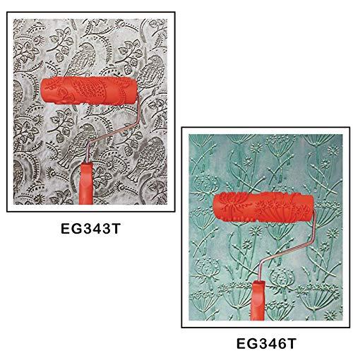 2 stk. Geprägte Malerei Farbrollen Walzenbürste mit Muster