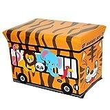 GMMH Sgabello Safari 40 x 25 x 25 cm Pieghevole Originale Toy Box Spielzeugtruhe Toybox AufbewahrungsboxSitzhocker Pieghevole