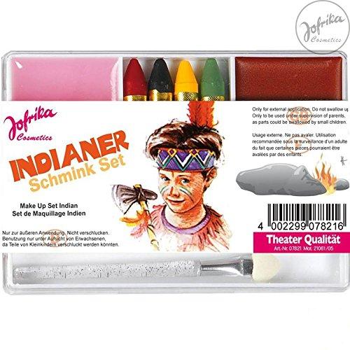 Jofrika Cosmetics * 707821 - Schminkset Indianer * Schminke Karneval *