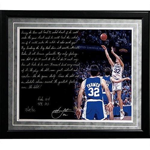 NCAA Duke Blue Devils Framed 16x 20Christian Laettner Facsimile 'The Shot' Story Photo