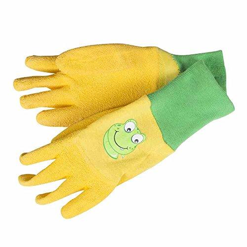 Gebol Kinderhandschuh Froggy Große 5 Baumwolle mit Latex Crinkle Beschichtung, gelb, 528932
