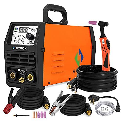 HITBOX TIG Welder Pulse 200A 110/220V Dual Volt Inverter IGBT Stick TIG Digital TIG200P Welder Welding Machine