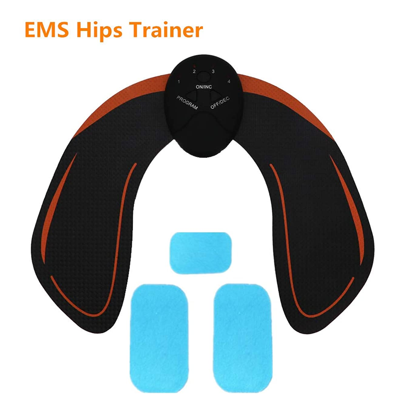 EMS Hips Trainer, ABS Butt Toner with 3 pcs Replacement Gel Pads - Butt Lifting Buttocks Enhancement Device Hips Shaping Equipment for Men and Women