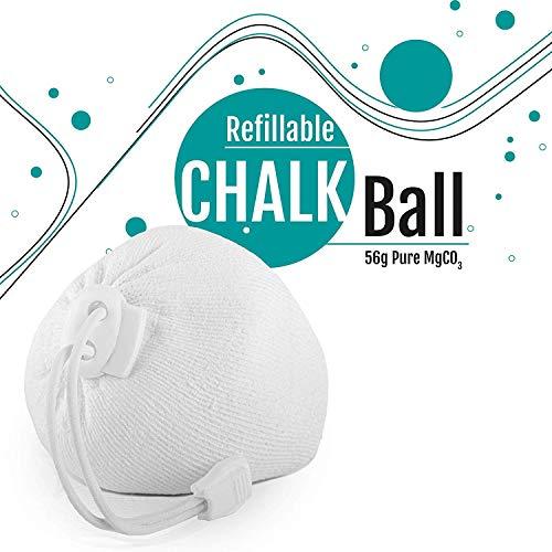TOPSIDE Chalkball wiederbefüllbar 1 x 56g Chalkball Refill Bouldern Chalk Ball