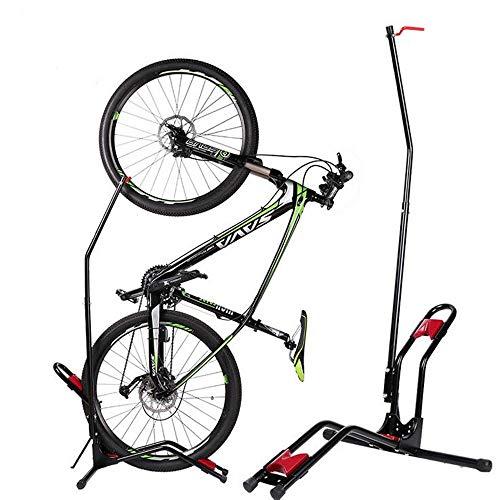 ADSSK Fahrradständer, Eisen, Universal Bike Ständer für Mountainbike, Rennrad, Erwachsene Fahrrad Abstellständer JC-007 Schwarz, One Size