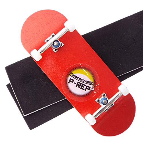 P-REP Solid Performance Complete Wooden Fingerboard 32mm x 100mm Dyed (Red)