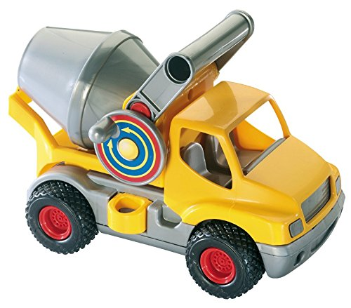 Wader Quality Toys ConsTruck Betonmischer, gelb/Silber (im Schaukarton)