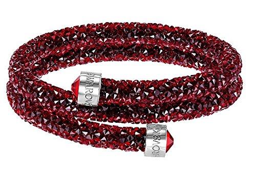 Swarovski Damen-Armreif Crystaldust Bracelet Edelstahl Kristall rot Rundschliff - 5250693