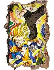 Muurstickers Dragon Ball Z Goku Nimbus Muursticker Kwekerij Manga Dragon Ball Gutters Trunks Janpanse Saiyan Anime Muursticker Auto 90 * 60cm-D_80*120CM