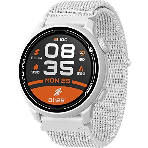 COROS PACE 2 Premium GPS Sportuhr, Herzfrequenzmesser, 30-Stunden-GPS-Vollbatterie, Barometer, ANT + & BLE-Anschlüsse, Strava, Stryd & TrainingPeaks (weißes Nylon)
